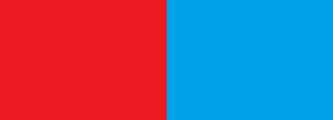 Czerwono niebieski
